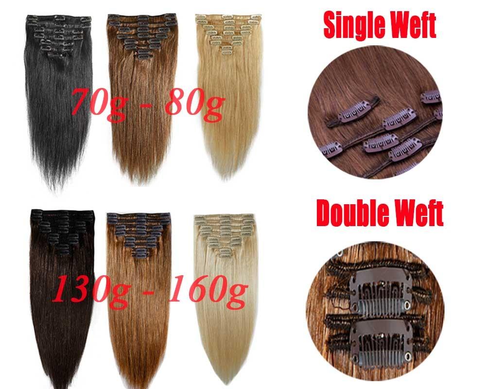 DE 9 9g Echthaar Clips In Remy Blond Human Hair Extensions ...