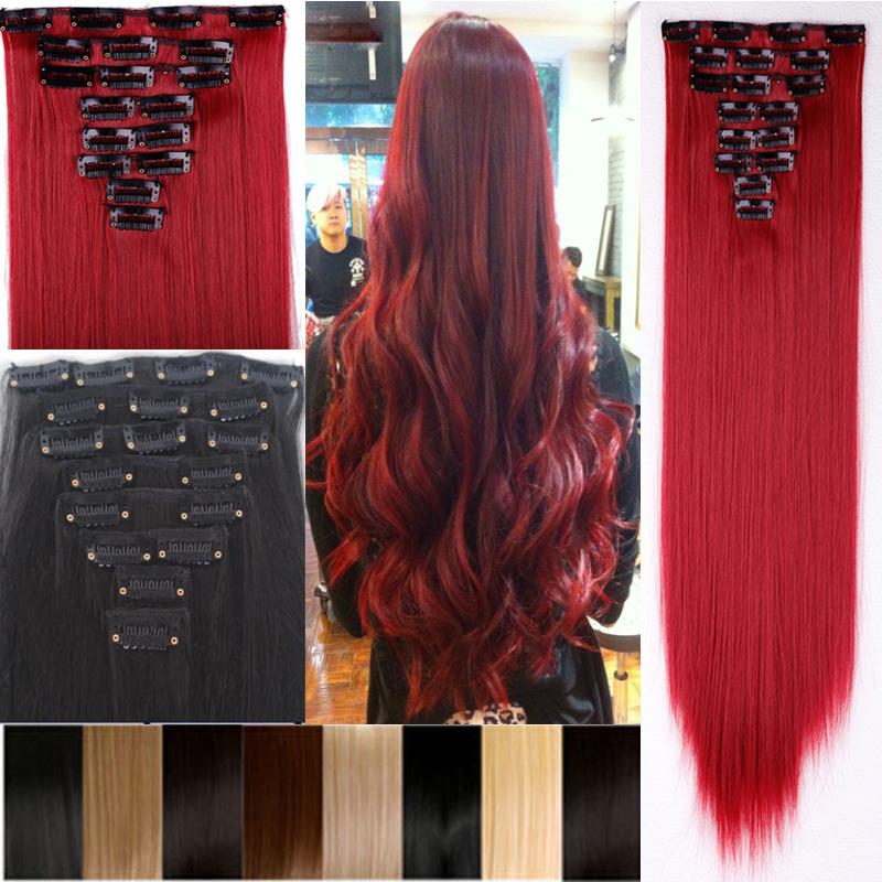Clip Inon 100 Natural Soft Hair Extensions Fringe Bang Black Brown