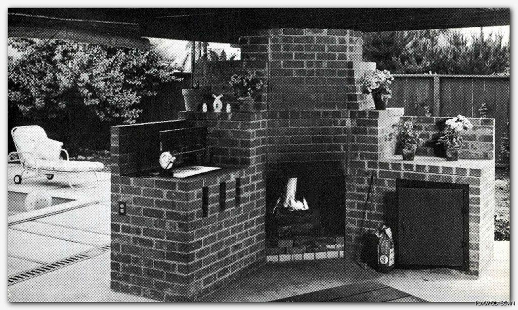 1960 Building Barbecues Mid Century Mod Old School Design