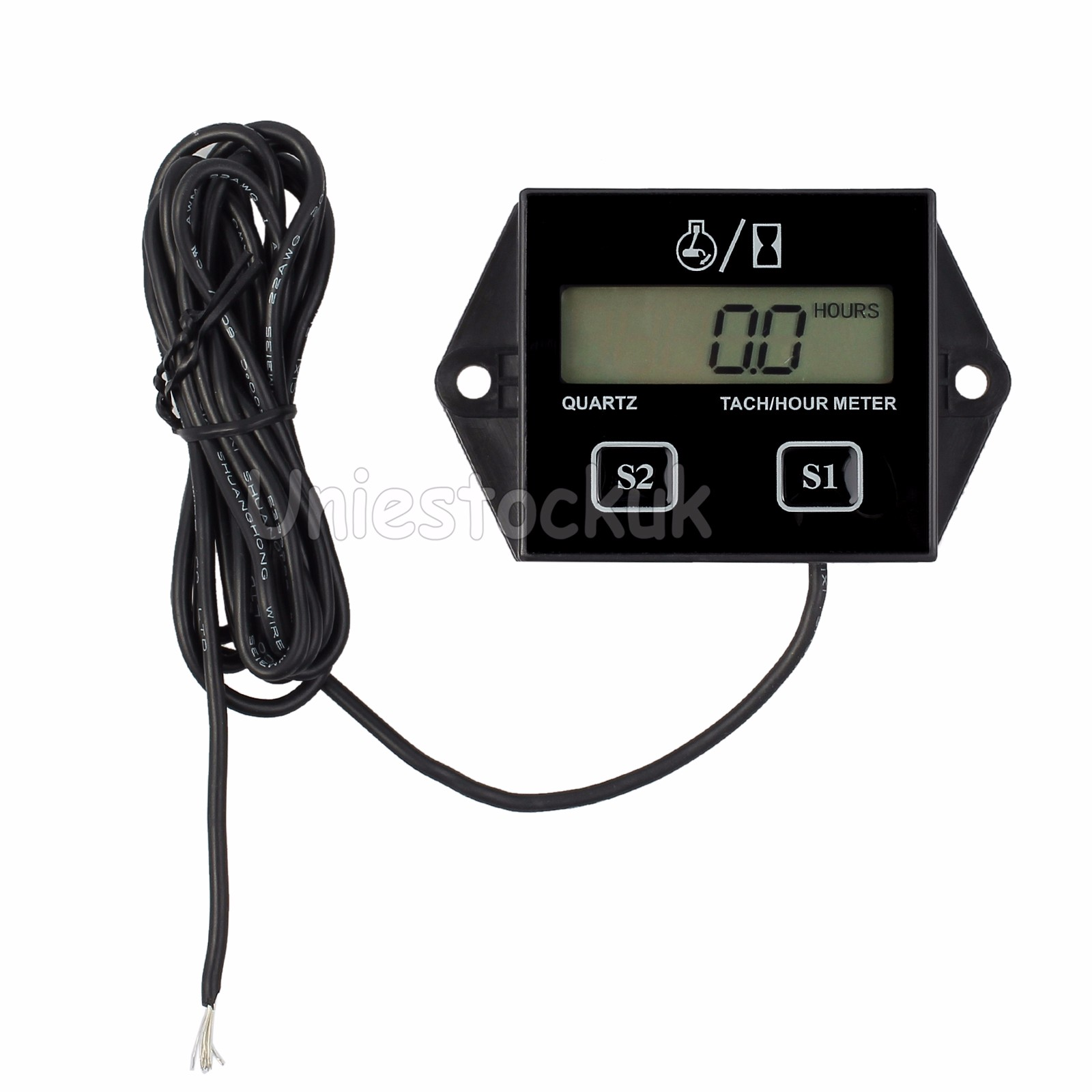 motorcycle bike digital tach hour meter tachometer gauge. Black Bedroom Furniture Sets. Home Design Ideas