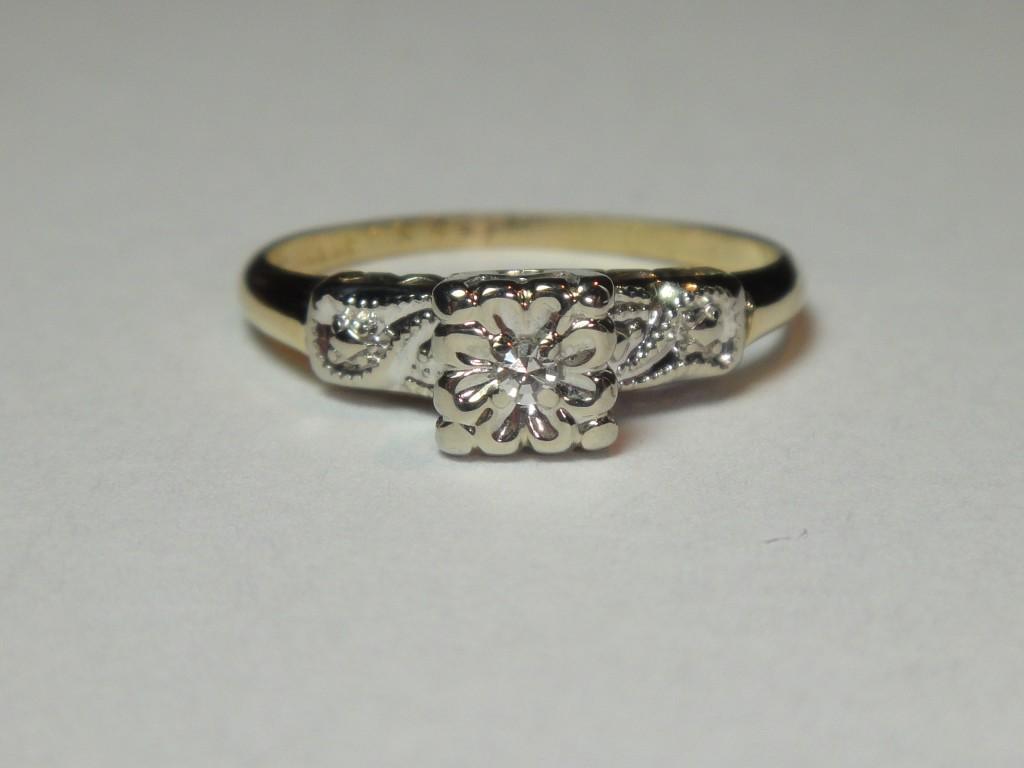 estate antique wedding engagement 1920 39 s diamond ring 14k gold n r ebay. Black Bedroom Furniture Sets. Home Design Ideas