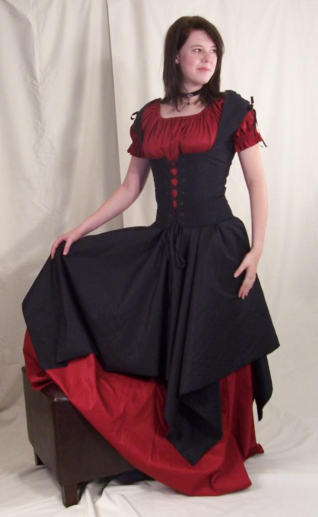 bff475ae93 PIRATE WENCH HALLOWEEN COSTUME RENAISSANCE BODICE DRESS on PopScreen