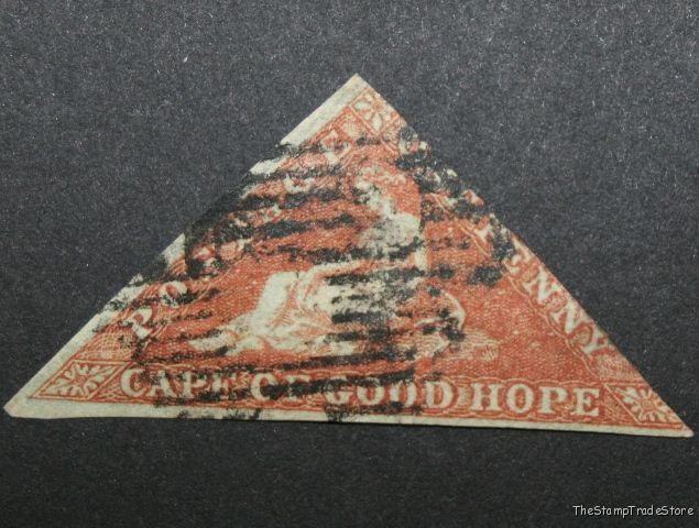 Cape of Good Hope Triangular Stamp 1d. 1853