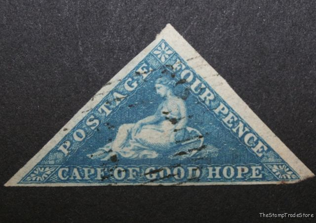 Cape of Good Hope Triangular Stamp 4d. 1855-63