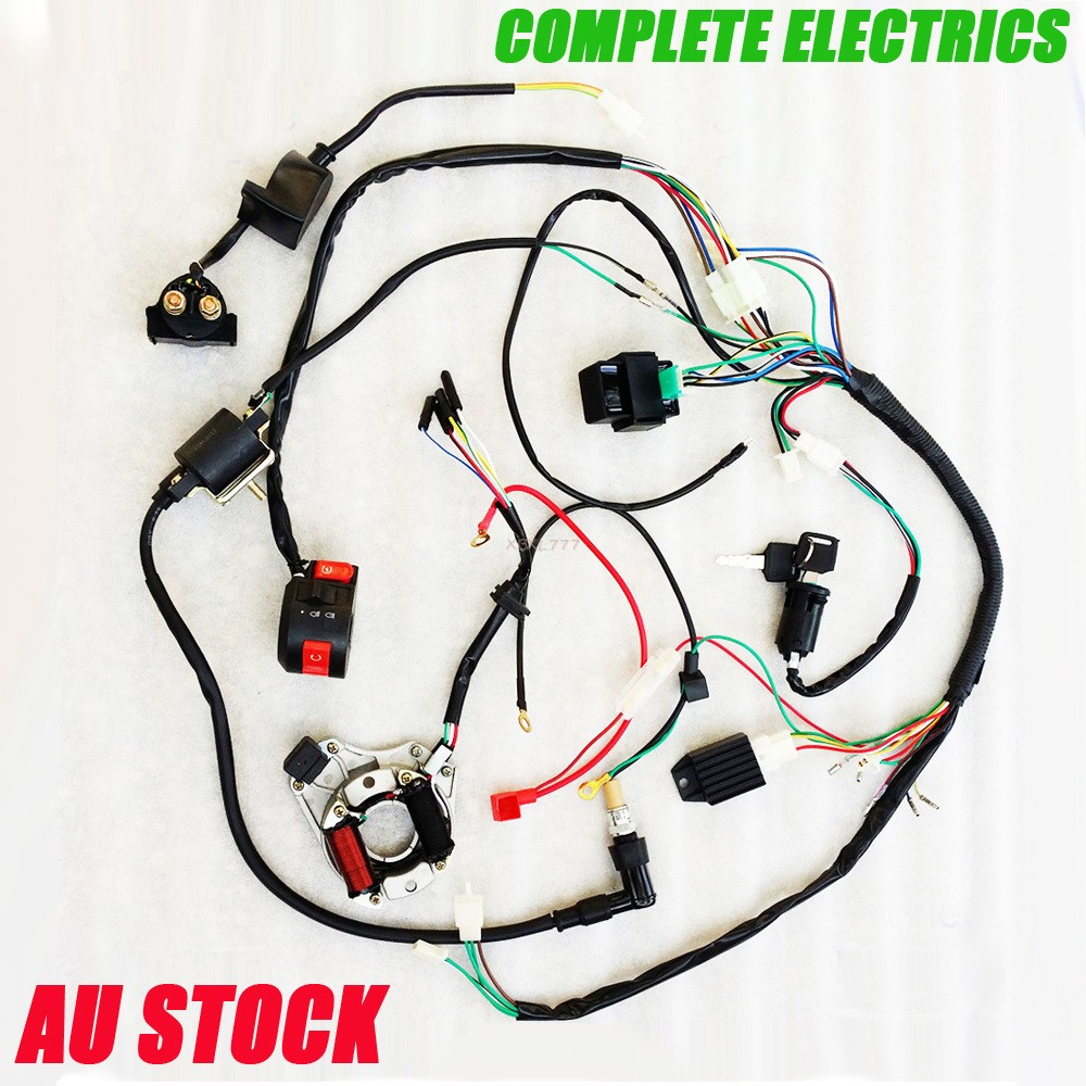 Complete Electric Wire Coil Harness For 110cc 125cc Atv Buggy Quad Mower