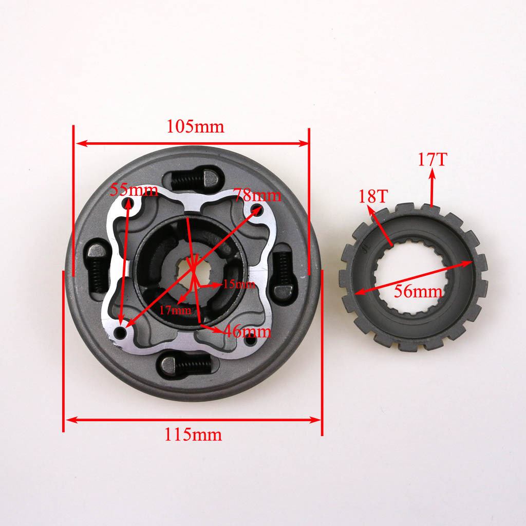 Lifan Semi Auto Clutch Assembly Fits 125cc Chinese Dirt Pit Bike
