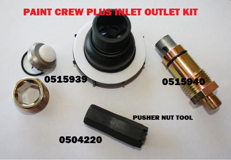 Details About Wagner Paint Crew Plus Repair Kit Inlet Outlet Valve 0515939 0515940
