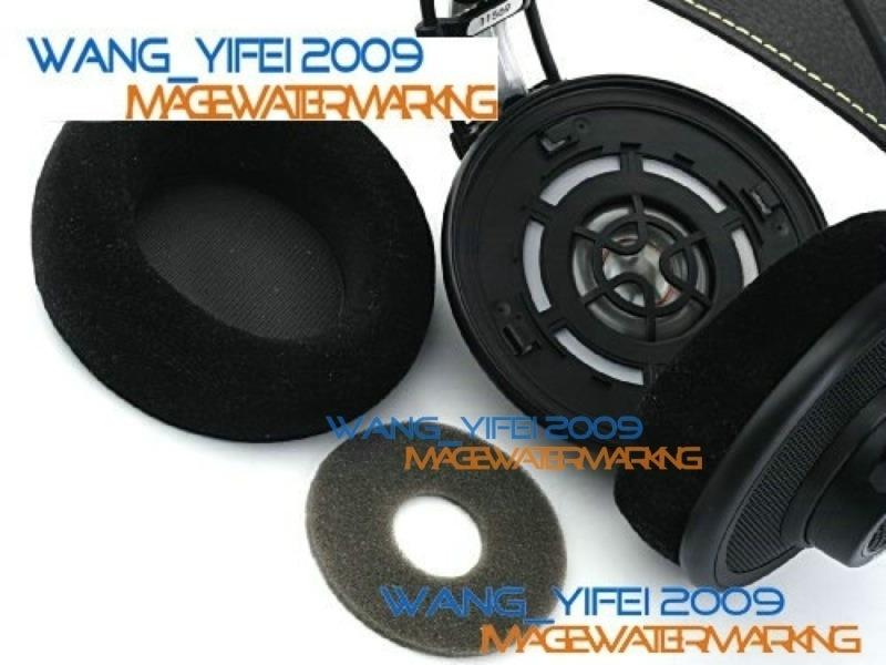 Velour Velvet Replacement Cushion Pads For AKG K301 K401 K501 Headphones
