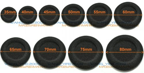 10 Pcs Replacement Foam Cushion Ear Pads For Sony MDR14 MDR24 MDR34 Headphone