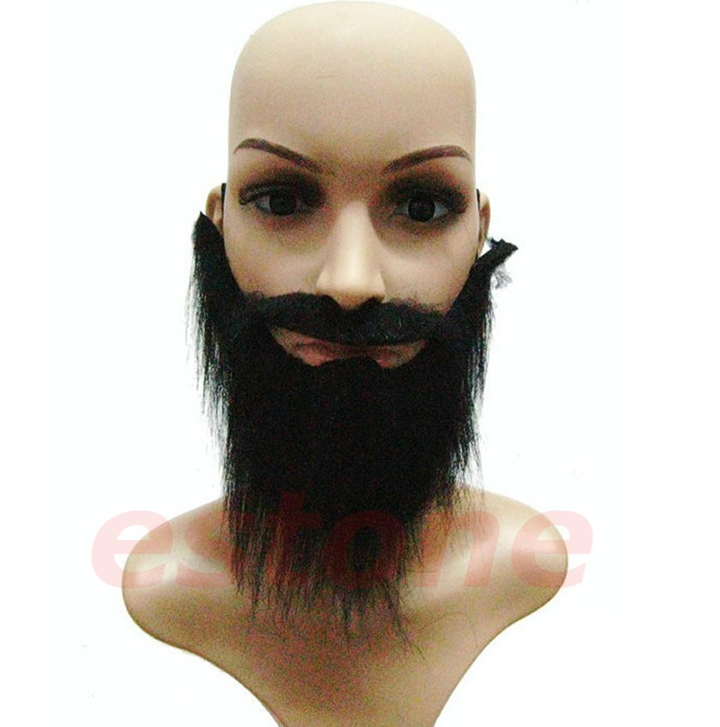 6bd0703740c Details about Funny Fancy Halloween Party Fake Beard Moustache Mustache  Facial Hair Costume