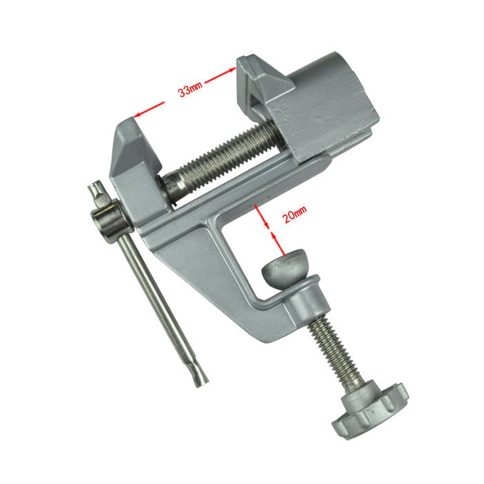 Aluminum Alloy Mini Table Bench Vice Vise for Hobby Craft Woodwork Jewelry T8F