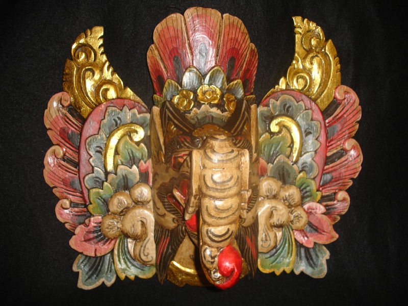 Phenomenal Balinese Ganesha Mask Elephant Guardian Hand Carved Wood Door Handles Collection Olytizonderlifede