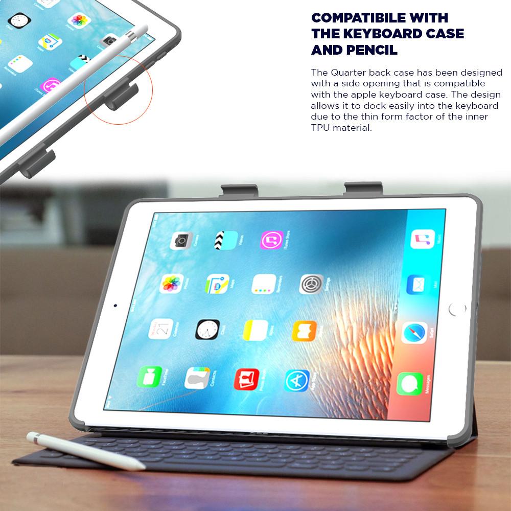 Poetic QuarterBack Bumper Protection w/ Pencil Holder Case For iPad ...
