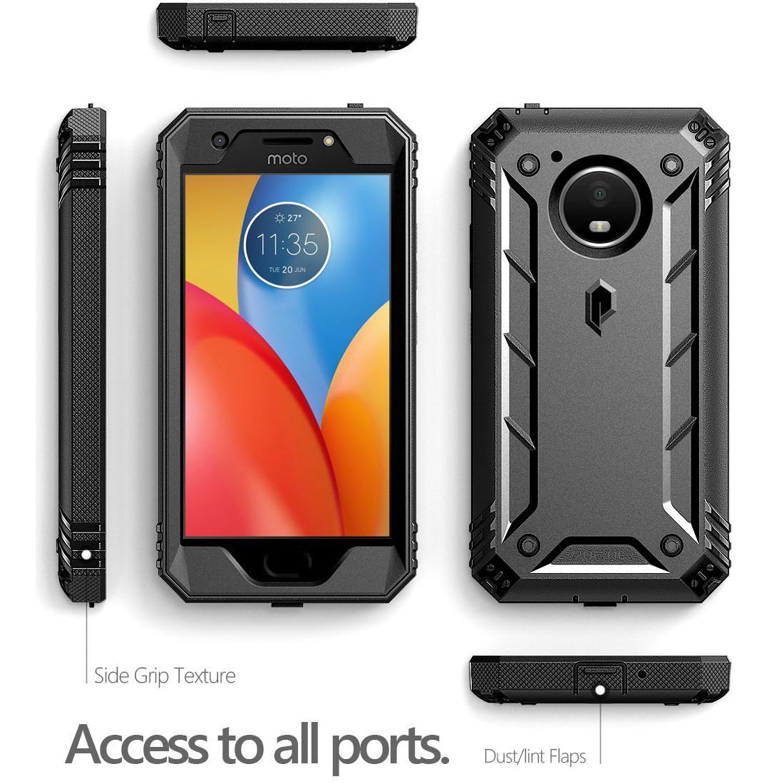 the best attitude c77de 7b852 Details about Poetic Revolution【360 Degree Protection】Case For Motorola  Moto E4 Plus Black