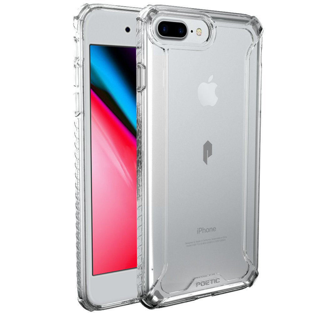 buy online c58dc 6536c Details about Poetic Apple iPhone 8 Plus Rugged Case [Affinity Series]  Shockproof Cover Clear