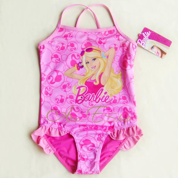 Girls Baby Barbie Princess 2 7Y Swimsuit Swimwear Swim Costume Bathing
