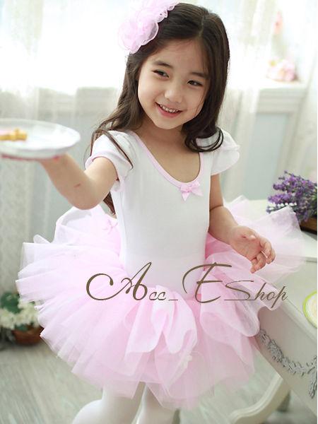 Girls Princess Party Leotard Ballet Dance Costume Tutu Fairy Dress