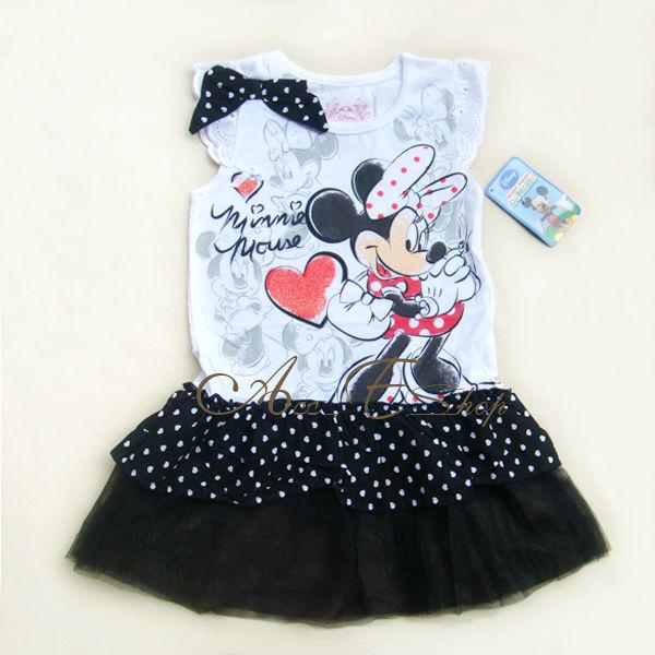 Girls Kids SZ 4 5 6 7 Minnie Mouse Costume Summer Dress Polka Dots