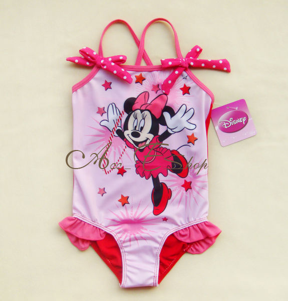Minnie Mouse One Piece Girls Baby Swimsuit Swimwear Bathing Suit