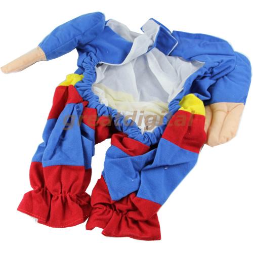 Cute Pet Cat Dog Puppy Cotton Clothes Costumes Superman Suit