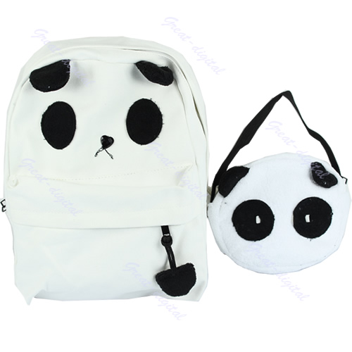 New Lovely Cute Panda Backpack With Little Baby Panda