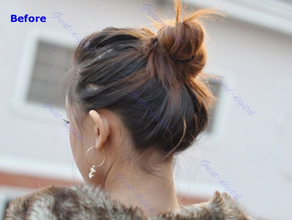 Stylish Pony Tail Women Clip In On Hair Bun Hairpiece Hair