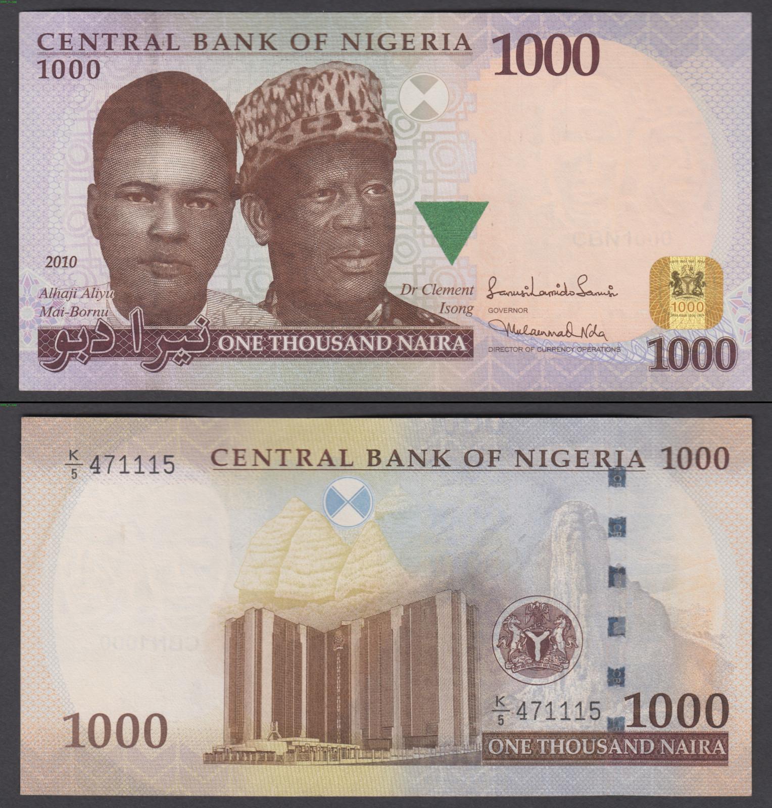 VF NIGERIA 1000 Naira 2010 Pick 36d 1