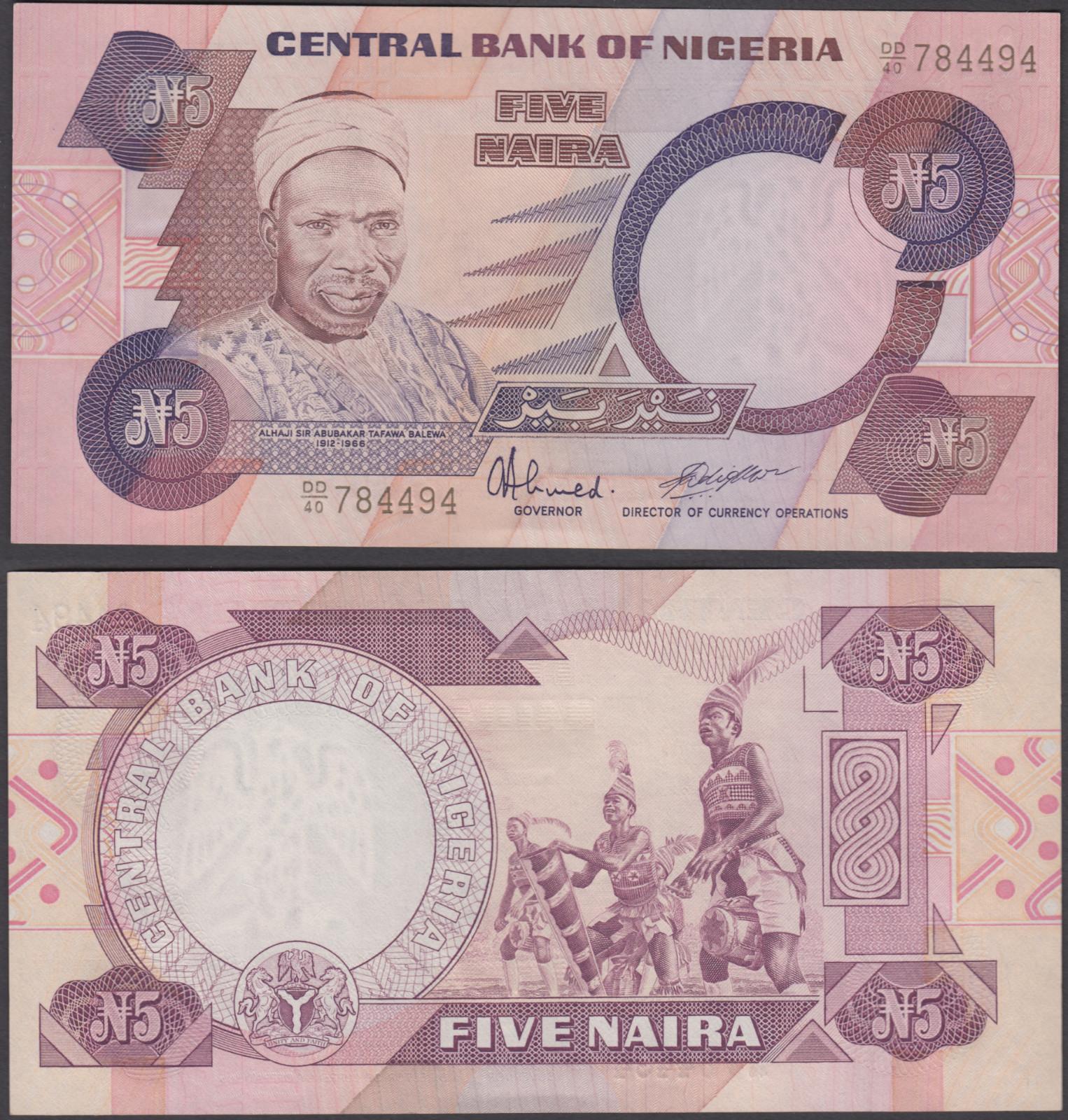 P 24i   Uncirculated Banknotes 5  NAIRA   2005  Uncirculated NIGERIA