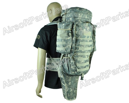 Airsoft Tactical Military Molle Full Gear Dual Rifle Gun Backpack Bag Case ACU