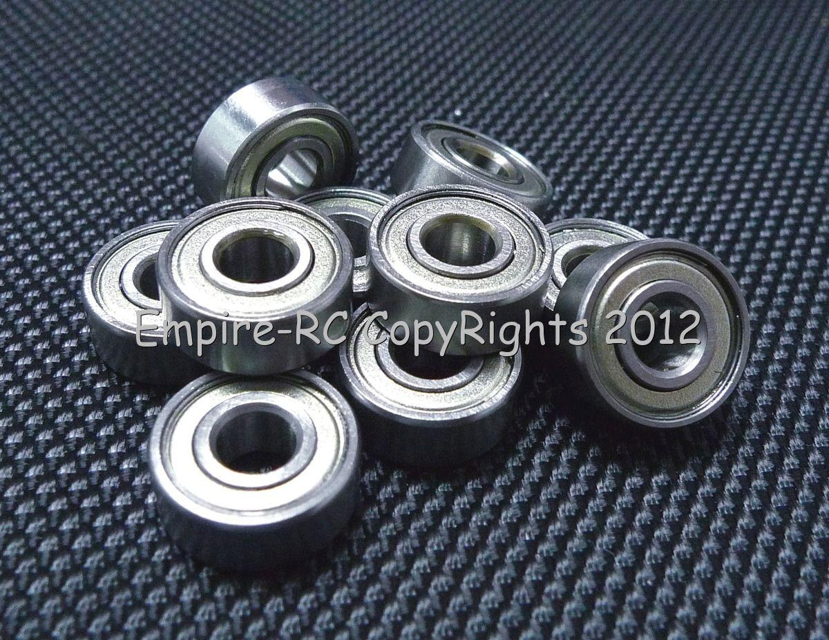 "10 Pcs R3ZZ 3//16/"" X 1//2/"" X 0.1960/"" Metal Shielded Ball Bearing Bearings R3"