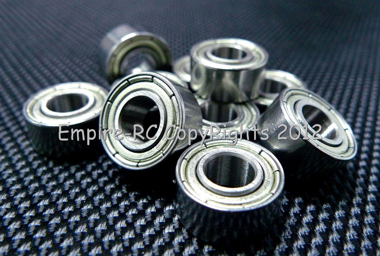 10 Pcs 8x24x8mm Metal Double Shielded Ball Bearing Bearings 8*24*8 628ZZ
