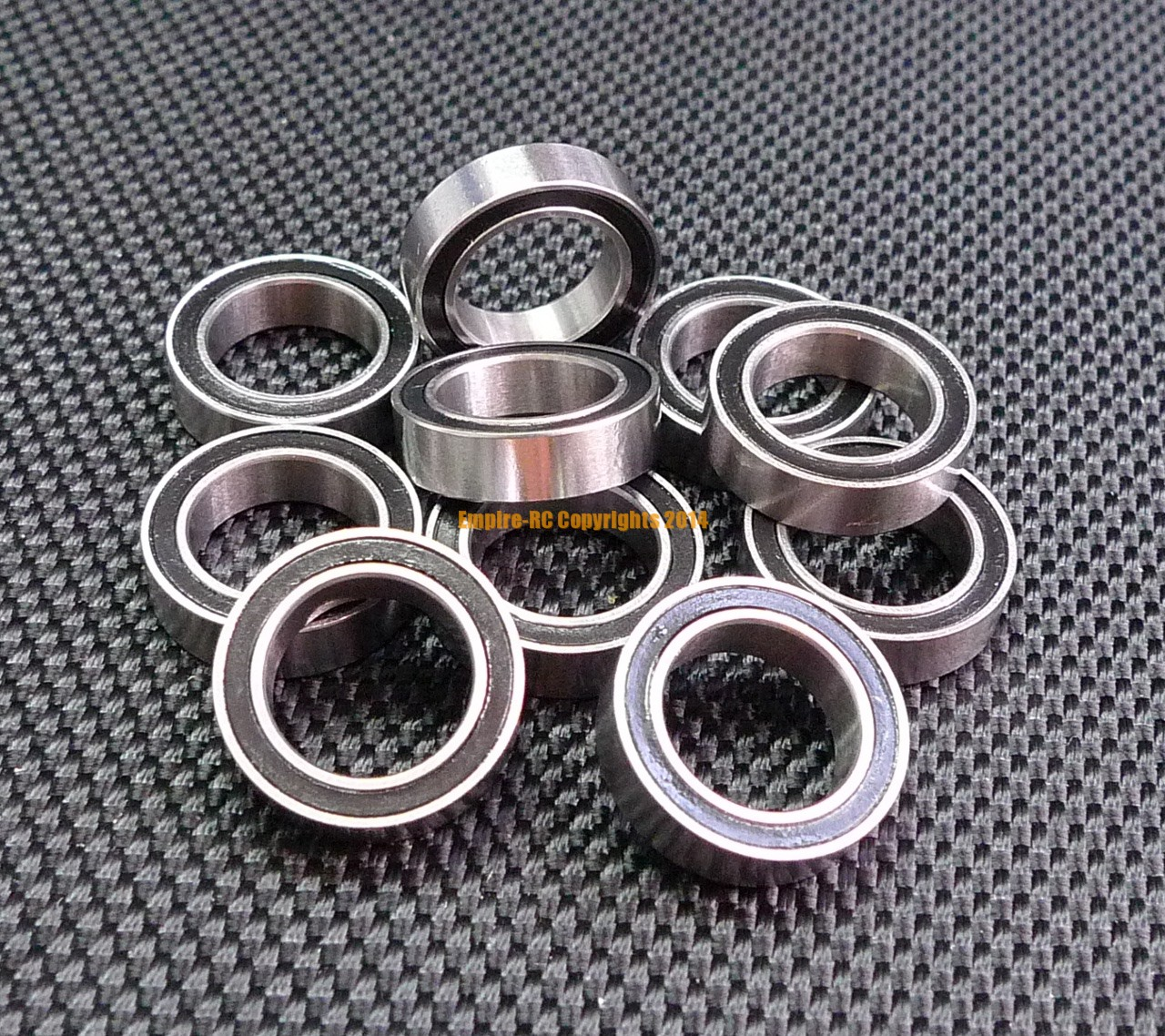 6703-2RS 17x23x4 Ball Bearings Black Rubber Sealed Bearing 5 PCS