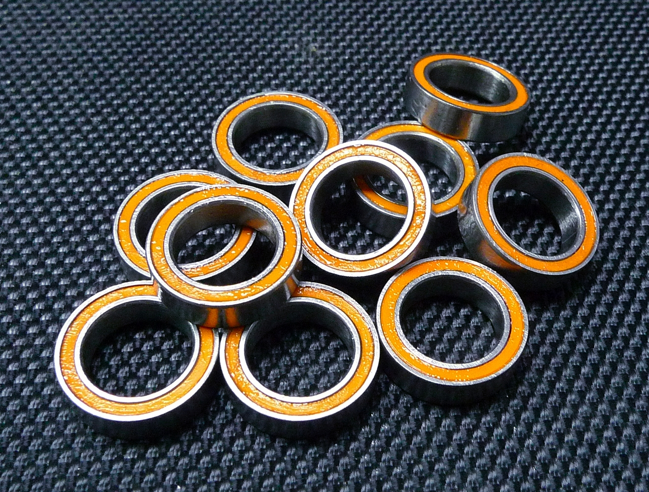 Double Metal Rubber Sealed Ball Bearing Orange 5x13x4 mm 695-2RS 4 PCS