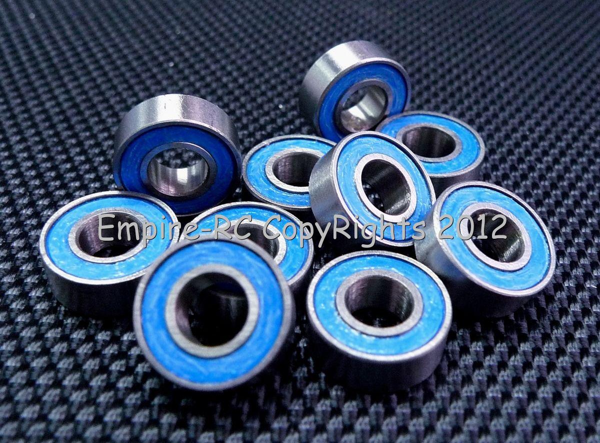 MR117-2RS 10 PCS 7x11x3 mm Rubber Sealed Ball Bearing Bearings BLACK 7*11*3