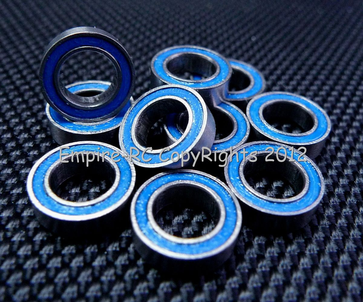 Blue 5x10x4 MR105-2RS 5*10*4 25 PCS Tamiya 1050 Rubber Sealed Ball Bearings