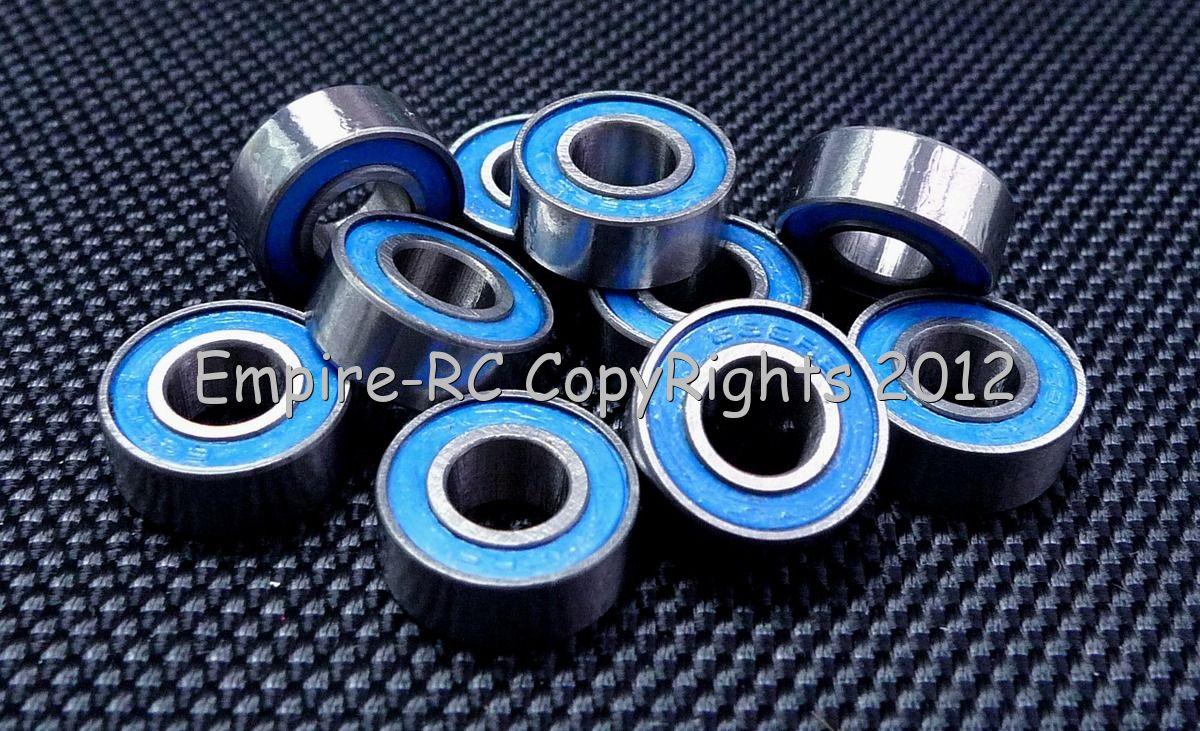 10 PCS 6*13*5 BLUE 686RS 6x13x5mm Rubber Sealed Ball Bearing Bearings