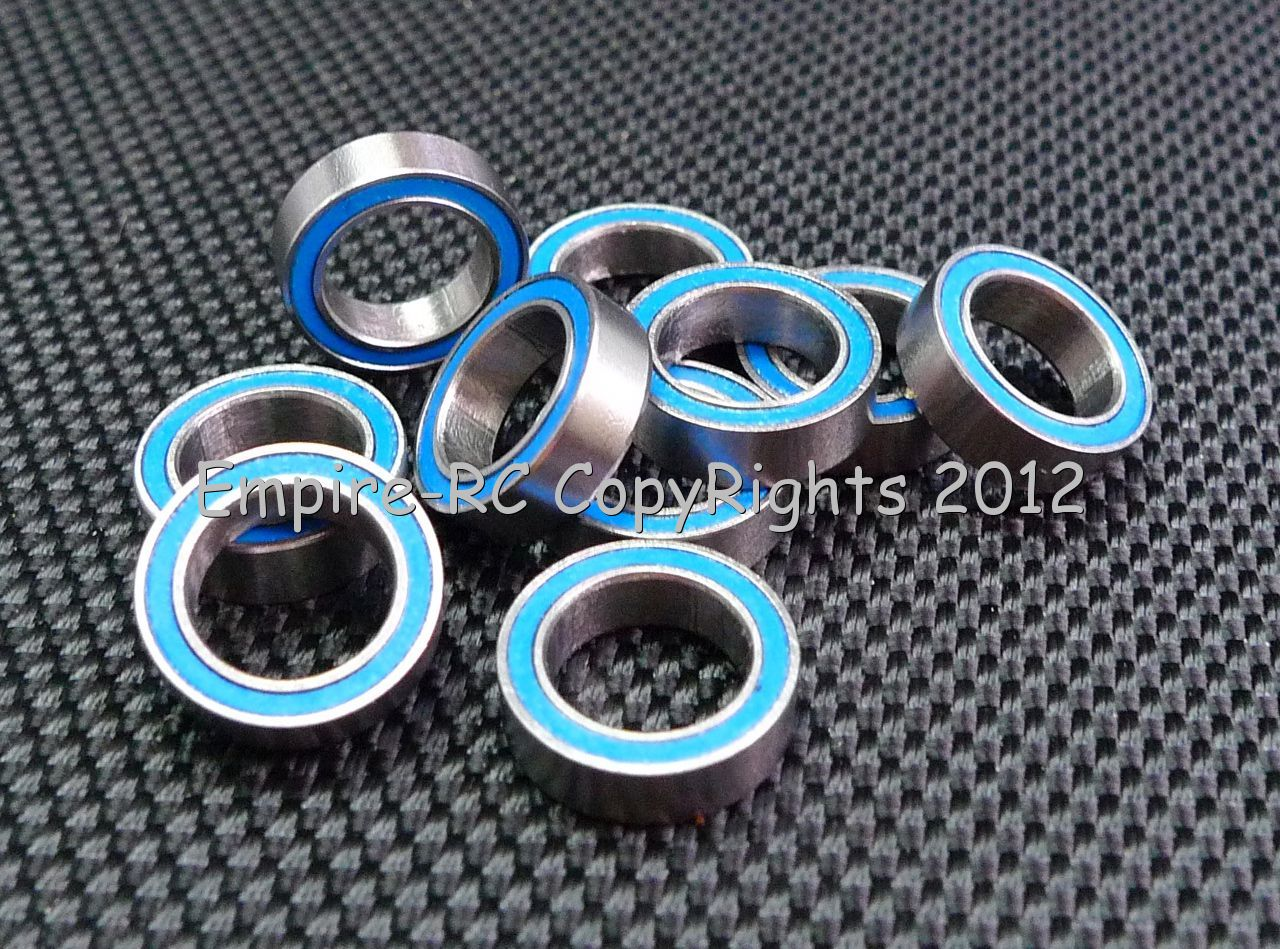 Black 5x10x4 MR105-2RS 5*10*4 25 PCS Tamiya 1050 Rubber Sealed Ball Bearings