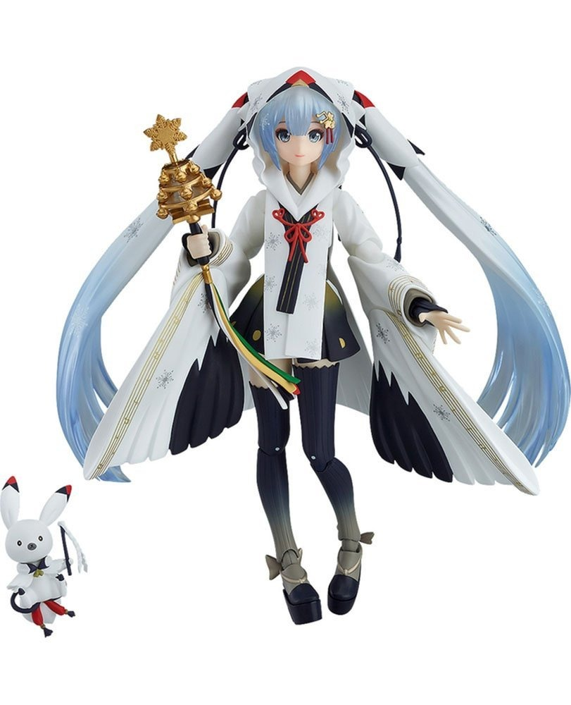 Snow Hatsune Miku Crane Priestess 15CM Figma 045# EX-045 PVC Action Figure Loose