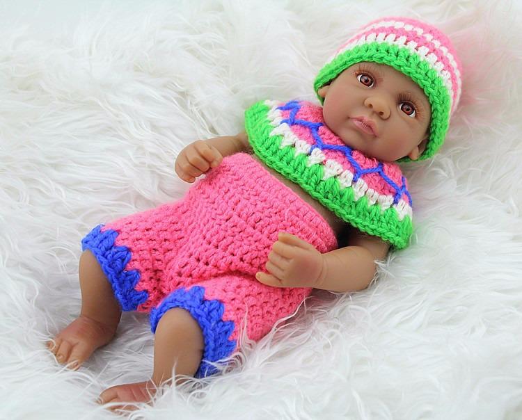 American Black Reborn Baby Dolls Silicone Ethnic Boy Girl