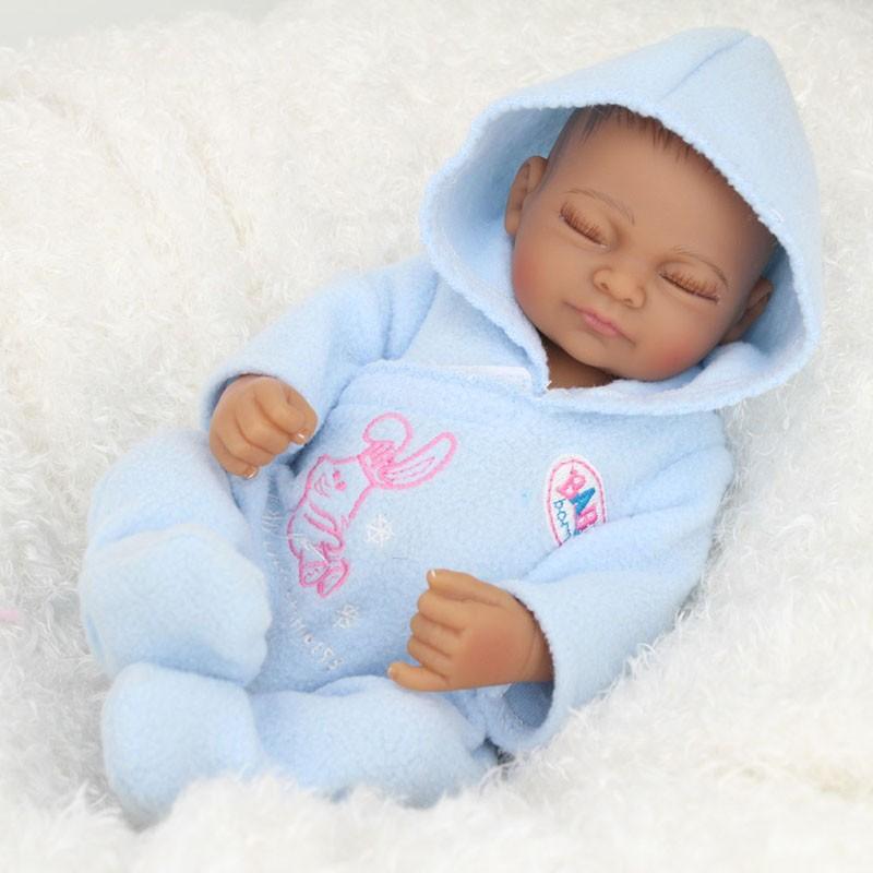 African American Baby Doll Black Boy Lifelike Reborn
