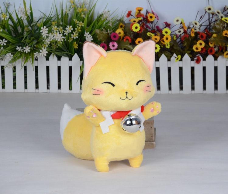 Anime Gugure Kokkuri-san Kokkuri Cosplay Fox Plush Handmade Doll 32cm Hot Cute