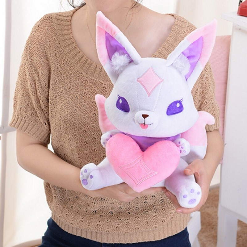 "LOL Cosplay Anime Doll Ahri Pet Fox Kiko Star guardian Plush Toy Stuffed 12/"""