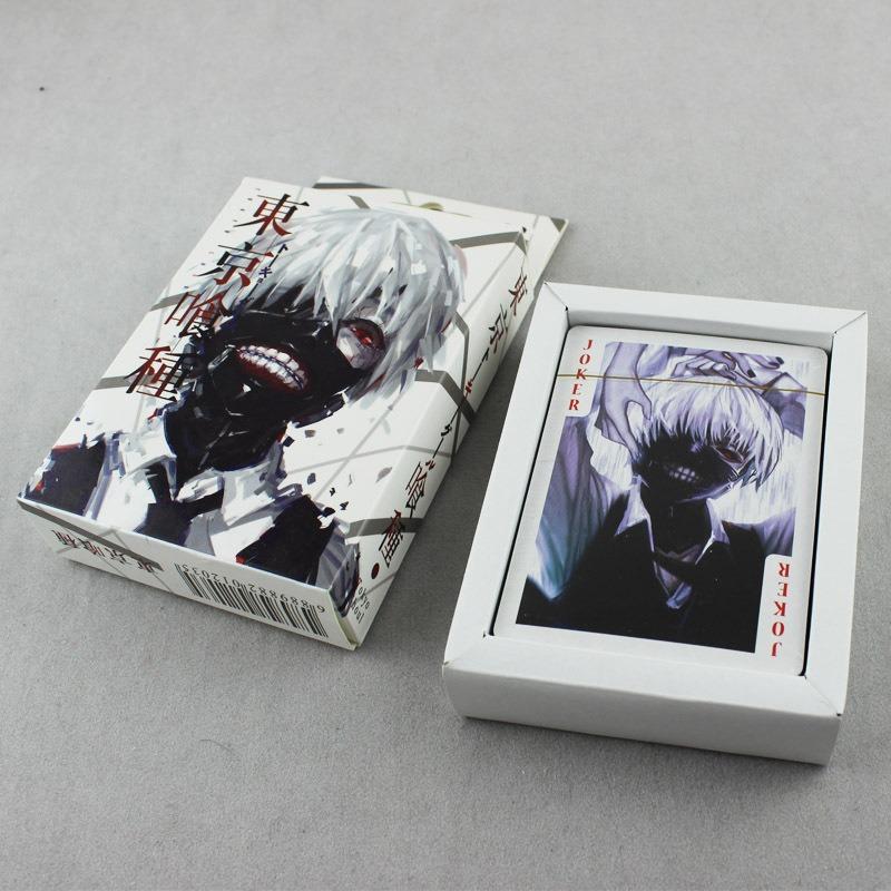Anime Tokyo Ghoul Ken Kaneki Poker Cards 54pcs Playing Cards Desk Poker With Box