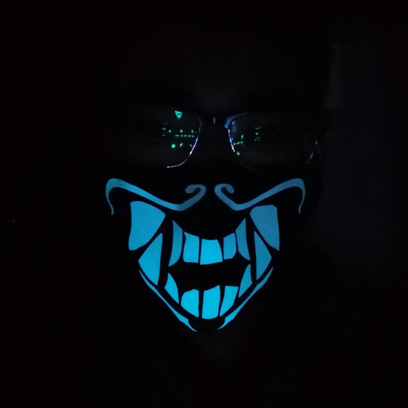Details about LOL League of Legends K/DA Kda Akali Cosplay S8 Face Mask  Night Lights Luminous