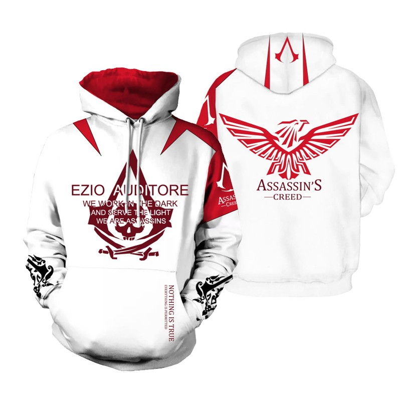 Assassins Creed Hoodies 3d Streetwear Hoody Assassin S Long Sleeve
