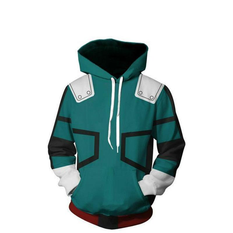 Boku No//My Hero Academia Midoriya Izuku Deku Cosplay Hoodie Jacket Coat Sweater.