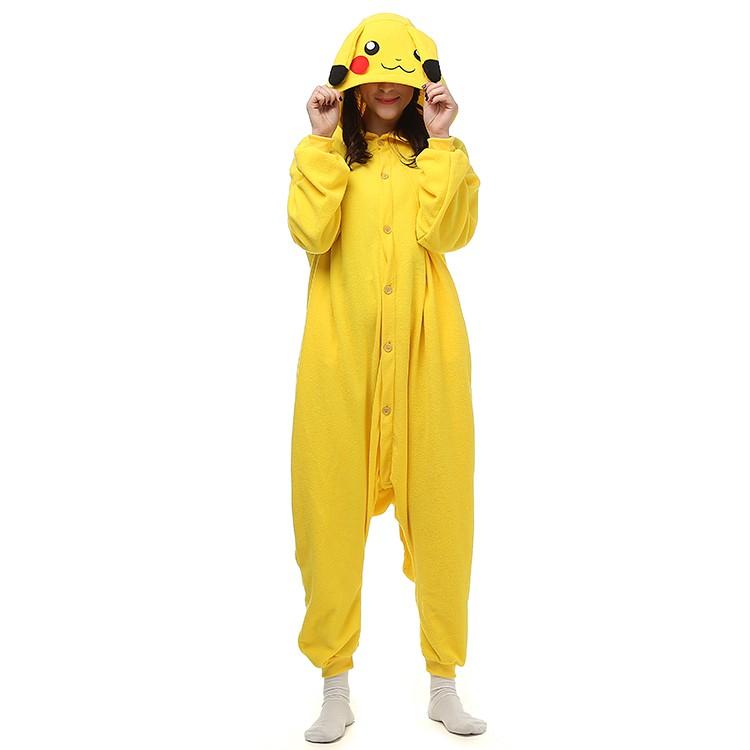 Anime Pokemon Pikachu Kigurumi Adults Cosplay Costume One-Piece Jumpsuit Pyjamas   eBay  sc 1 st  eBay & Anime Pokemon Pikachu Kigurumi Adults Cosplay Costume One-Piece ...