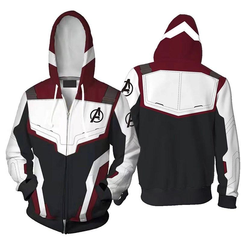 ea5f86abd Avengers Endgame Quantum Battle Suit Hoodies Jacket Casual ...