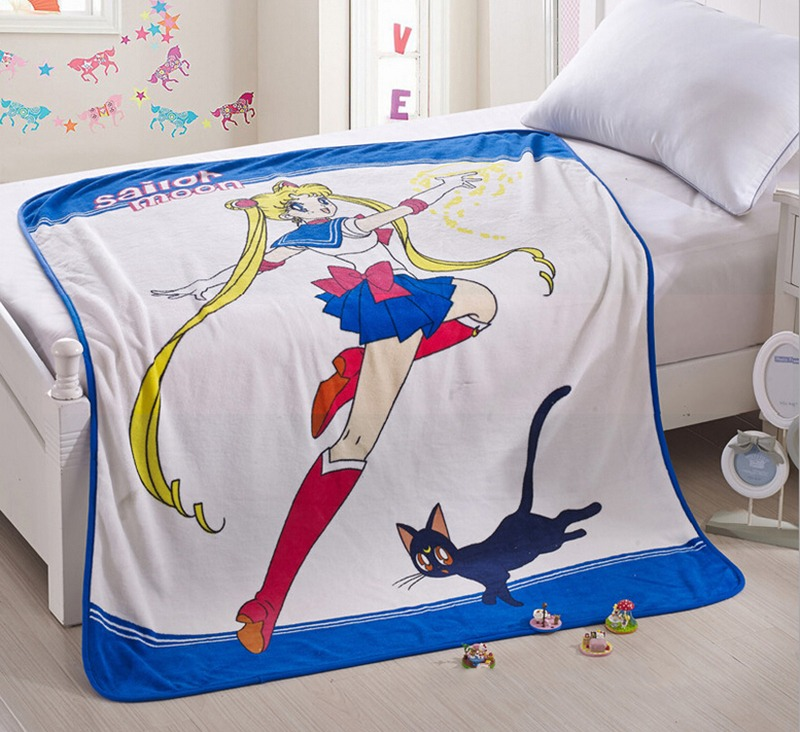 Anime Sailor Moon 20th Anniversary Tsukino Usagi Bed Sheet 4pc Cosplay Sheet Set