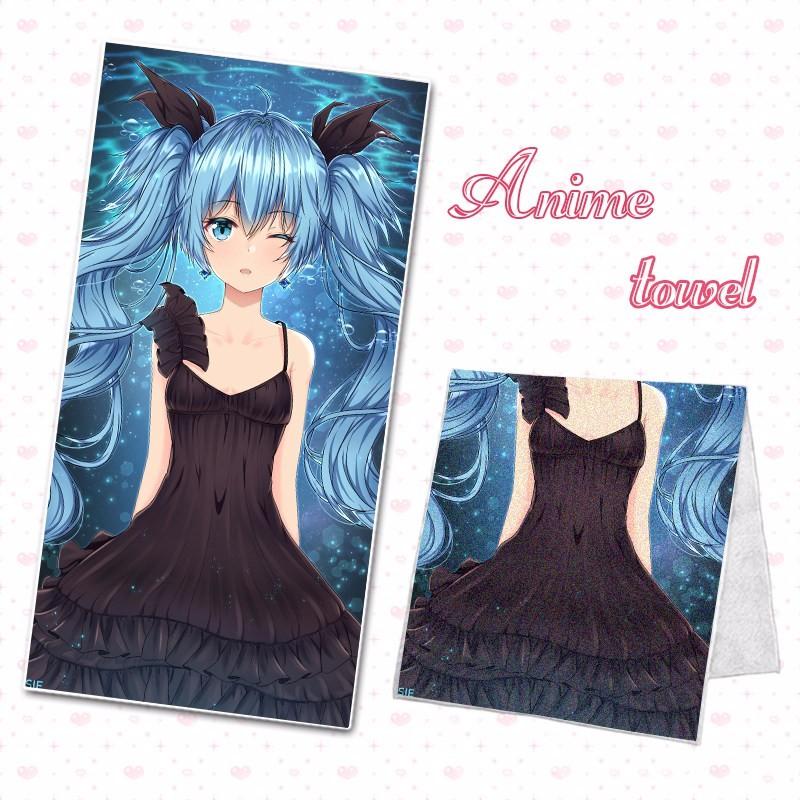 NEW Anime Hatsune Miku Vocaloid Towel Microfiber Bath Bathroom Shower Facecloth